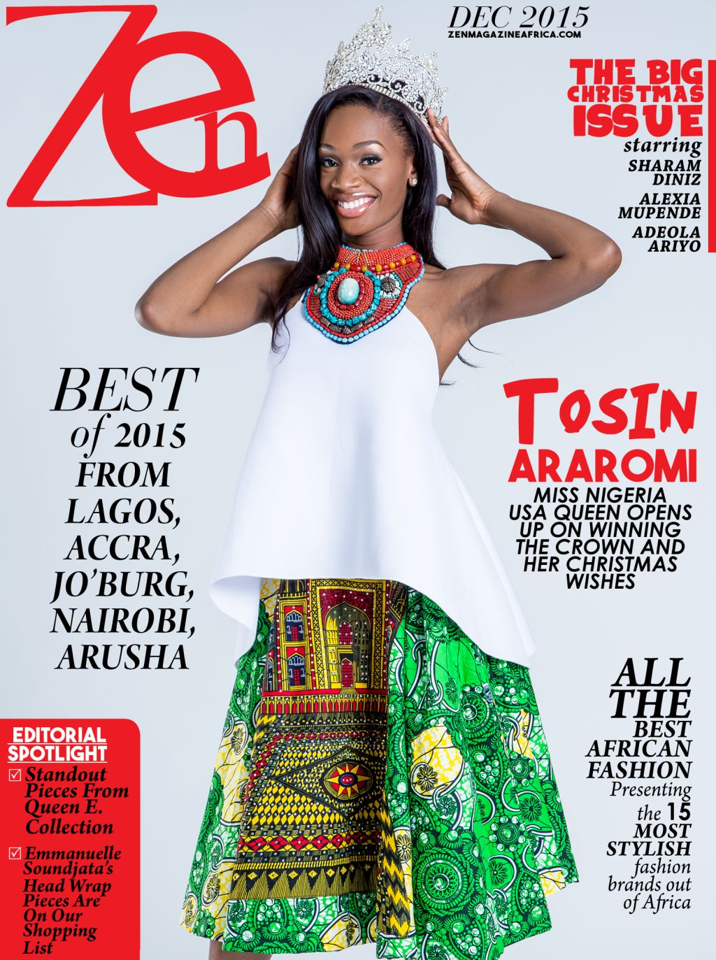 Miss Nigeria Usa Tosin Araromi Is Zen Magazine S Cover Star For December 2015 News Of Africa